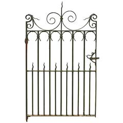 Antique Wrought Iron Pedestrian Gate, circa 1900