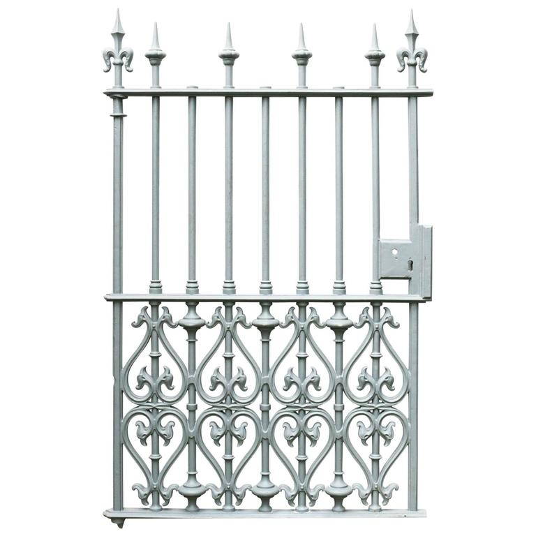 Victorian Cast Iron Pedestrian Gate For Sale