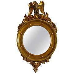 Early 20th Century Gold-Plated Eagle Mirror