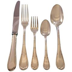 Rubans by Christofle Silverplate Flatware Set for 6 Dinner Service 32 Pieces