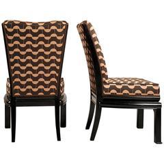 Pair of Rondocubist Chairs Designed by Czech Architect Josef Gočár