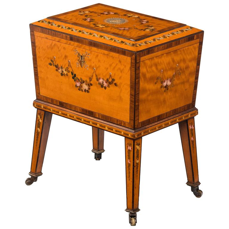 late 19th century small satinwood box on a stand for sale at 1stdibs. Black Bedroom Furniture Sets. Home Design Ideas
