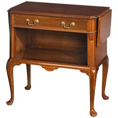 Late 20th Century Mahogany Night Table with Two Lifting Flaps