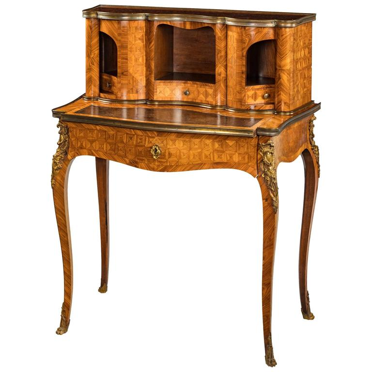 late 19th century kingwood bonheur du jour for sale at 1stdibs. Black Bedroom Furniture Sets. Home Design Ideas