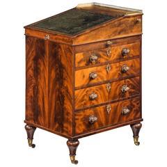 Regency Period Mahogany Davenport Desk of Quite Exceptional Quality