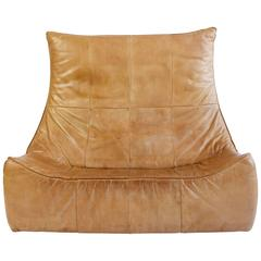 "Leather Two-Seat ""Rock"" Sofa by Gerard Van Den Berg for Montis"