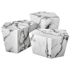 Prudente Set of Three Resin Marble Coffee Table
