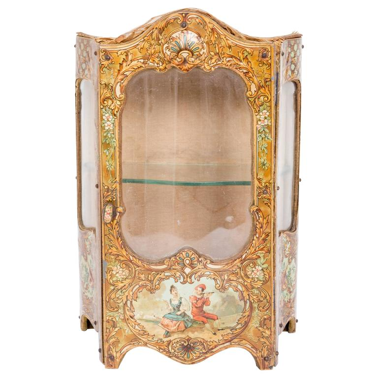 Late 18th Century Miniature Curio Cabinet For Sale