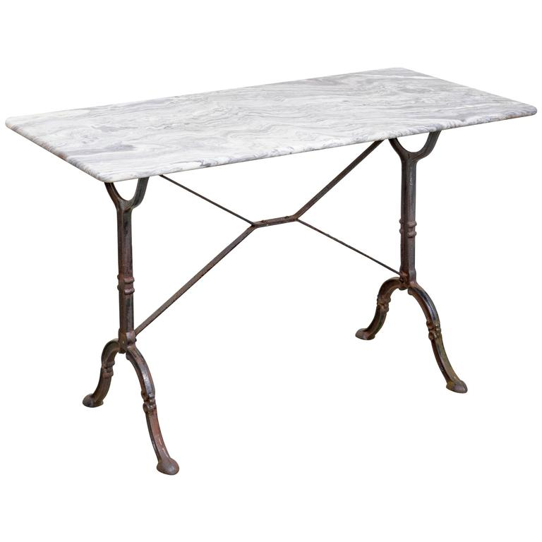 This antique french cherry side table is no longer available - Late 19th Century French Country Bakers Table Iron Base