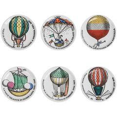 Set of Six Piero Fornasetti ''Poloni'' Casters