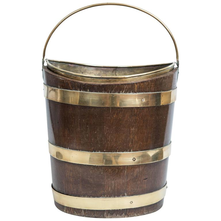 19th Century Peat Bucket For Sale