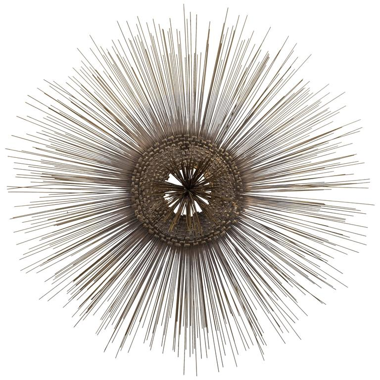 Mid-Century Modern Starburst Metal Wall Sculpture For Sale