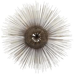 Mid-Century Modern Starburst Metal Wall Sculpture