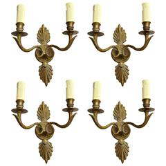 19th Century Bronze Small Wall Sconces