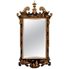 Gilded and Black Japanned Mirror