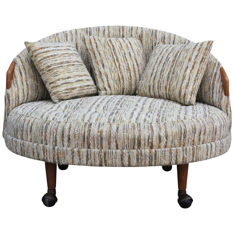 modern adrian pearsall havana chair in original fabric 1