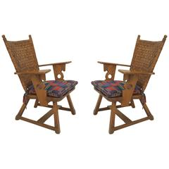 Two American Rustic Old Hickory Mission Armchairs