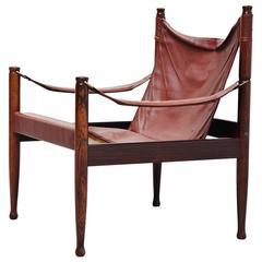 Erik Worts Safari Chair for Niels Eilersen, Denmark, 1960