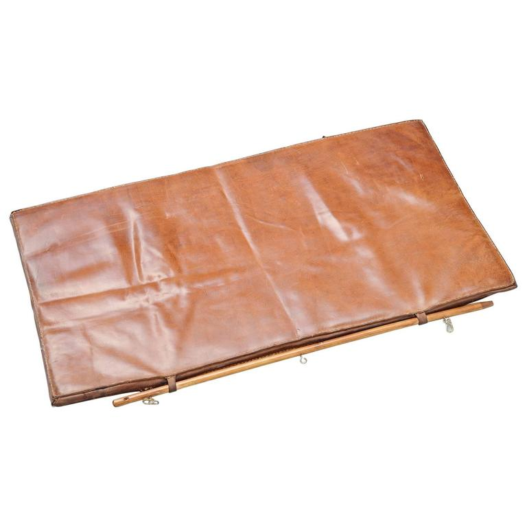 Leather Gymnastics Tumble Mat, Holland, 1960