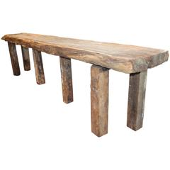 Organic Form Reclaimed Plank Top Serving Table