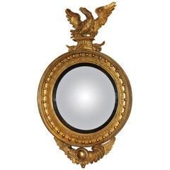 Exceptional Girandole Mirror with Rare Eagle and Serpent Motif