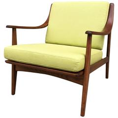 Danish Modern Teak Lounge Chair by Peter Hvidt & Orla Mølgaard Nielsen