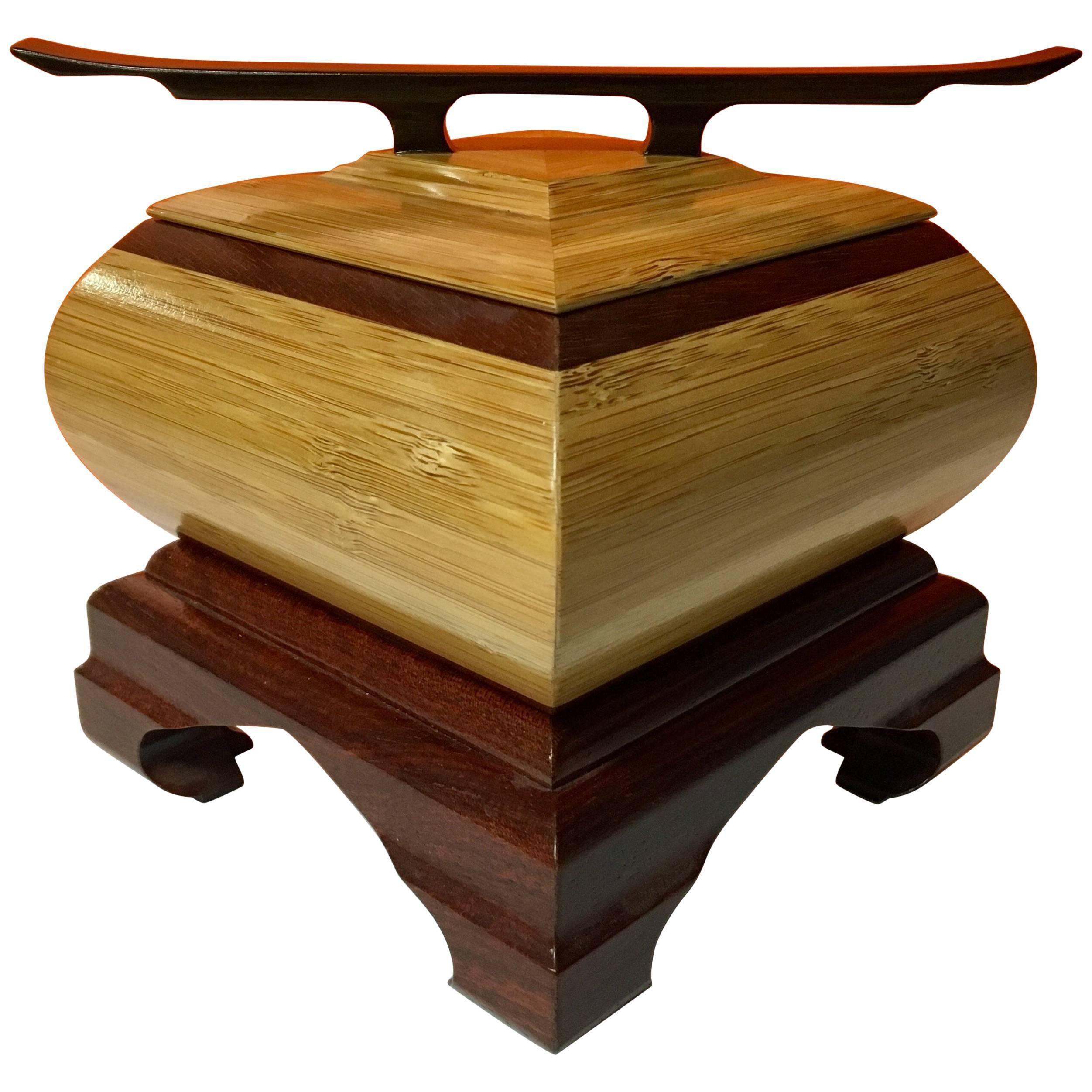 Elegant Handcrafted Walnut Jewelry Box Signed