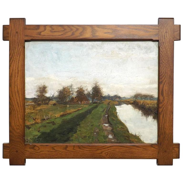 Landscape Painting of Paterswolde, the Netherlands by Jacob Madiol