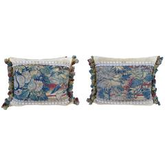 18th Century Tapestry Pillows, Pair