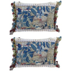17th Century Flemish Tapestry Pillows, Pair