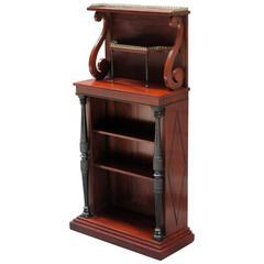 Early 19th Century English Regency Mahogany Bookcase with Display Shelf