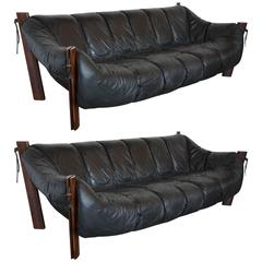Mid-Century Brazilian Sofas by Percival Lafer, Pair