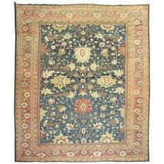 Antique Sultanabad Mahal Persian Carpet