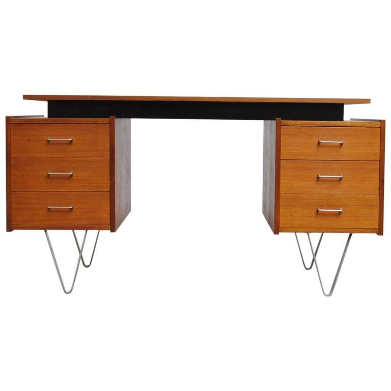 Cees Braakman Desk with Hairpin Legs For Sale