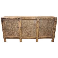 Antique Three-Door Server in Original Paint Patina