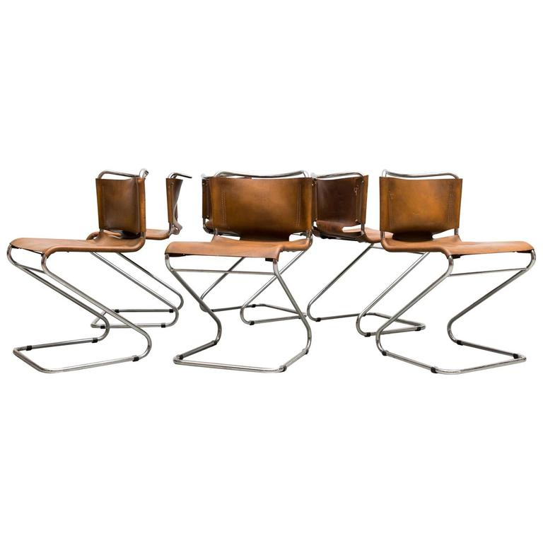 Set of Six Biscia Chairs by Pascal Mourgue for Steiner Meubles For Sale