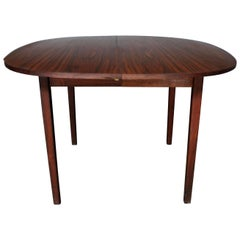 Rosewood Squircle to Oval Shaped Expanding Dining Table, Mid-Century Modern
