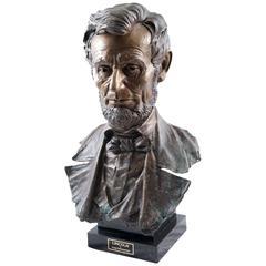 Bronze Bust of Lincoln by Greg Polutanovich