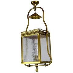 Converted Gas Hall Lantern Fixture