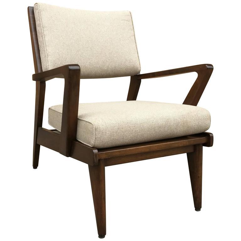 Mid-Century Modern Walnut Armchair by Jens Risom
