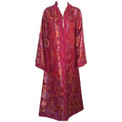 Moroccan Red Lame Caftan or Kaftan