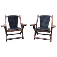"""Don Shoemaker """"Swinger"""" Sling Chairs, Pair"""