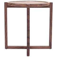 Contemporary Boton Three Side Table in Conacaste Solid Wood by Labrica