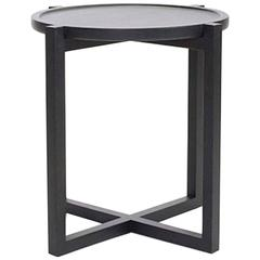 Contemporary Boton Three Side Table, Conacaste Wood with Black Stain by Labrica