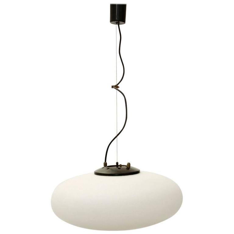 Italian Mid Century Pendant Lamp By Stilnovo For Sale