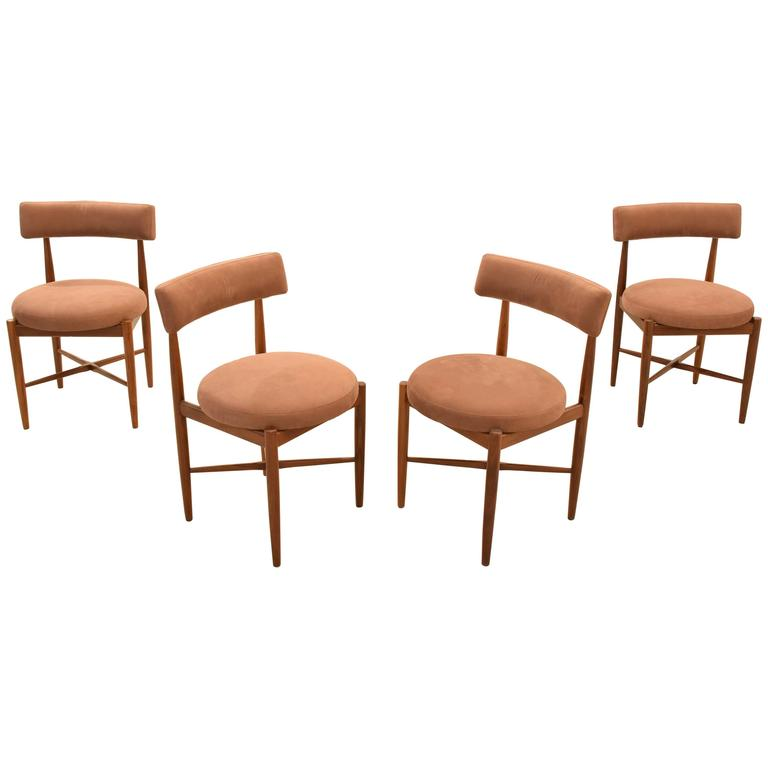 Mid century teak dining chairs by g plan at 1stdibs for G plan dining room chairs