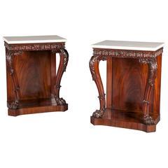 Pair of Regency Mahogany Console Tables