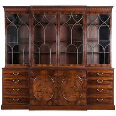 George II Breakfront Bookcase