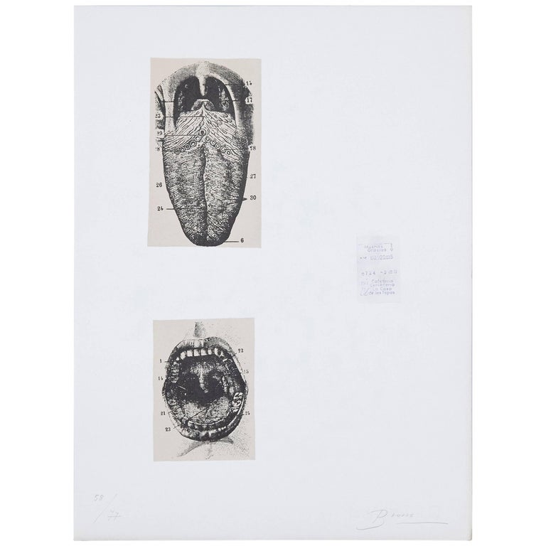 Joan Brossa Lithograph Visual Poem For Sale