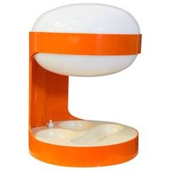 1967, Joe Colombo for Kartell, Rare Orange KD29 Table Lamp